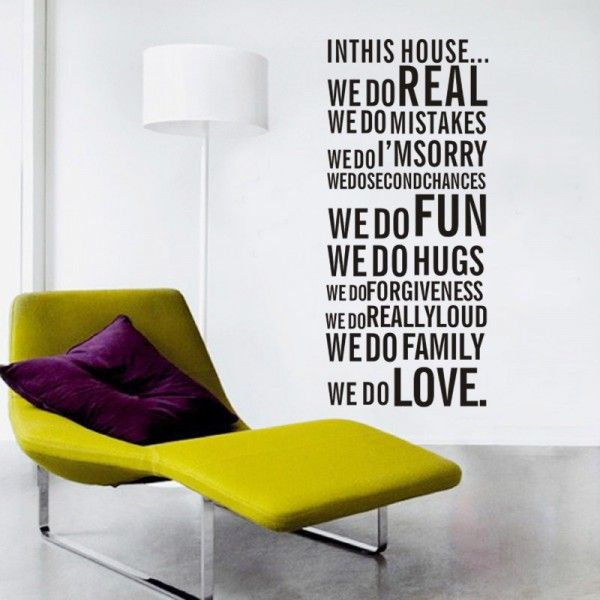 House Rules We Do Real Quotes Wall Art Sticker.