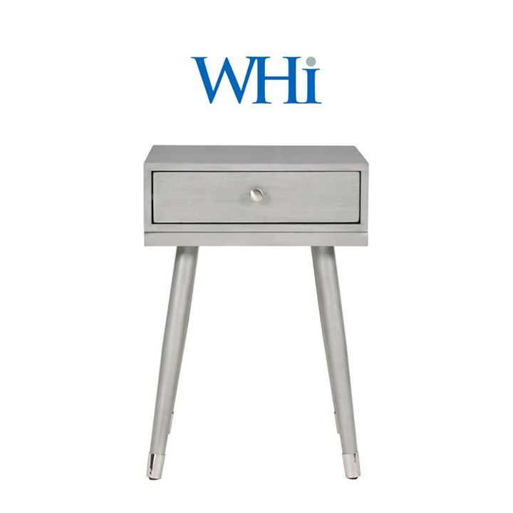 The Elba accent table in grey eucalyptus wood. Only from WHi...  http://worldwidehomefurnishingsinc.com/elba-accent-table-in-grey.html