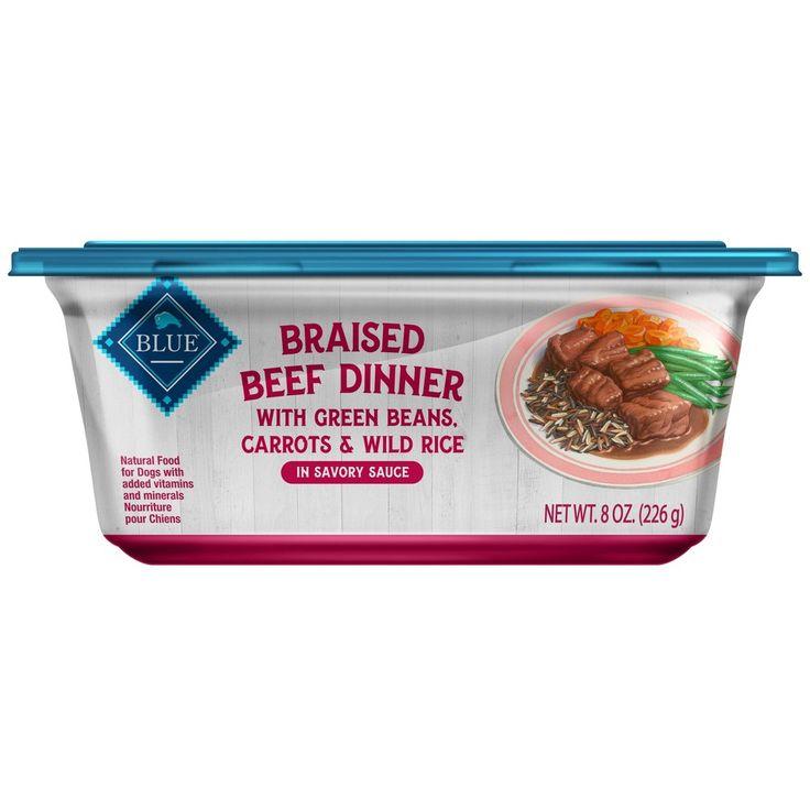 Blue buffalo braised beef dinner wet dog food 8pk8oz