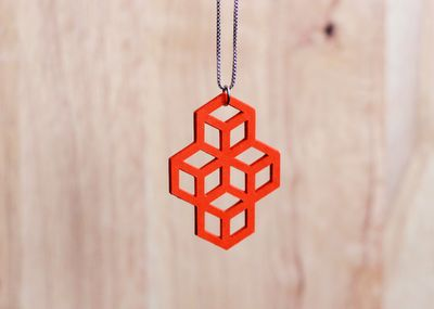 jewelry. necklace. cubes.