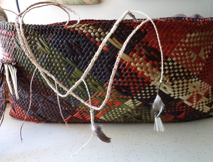 Alixene - a wonderful weaver wove a basket which told my story. It's called a kete