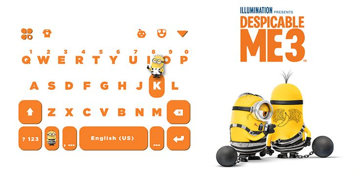 Despicable Me App Available at Kikatech  Download virtual Kika keyboard with latest themes like Real Madrid, FC Barcelona, Wonder Woman & Despicable Me 3 app!