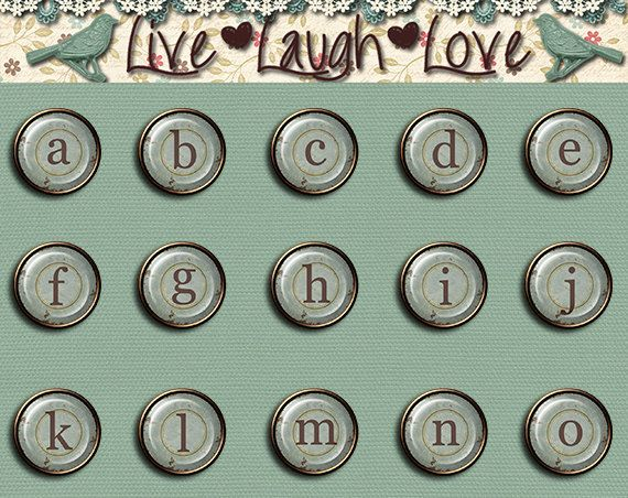 Digital Brads Alphabet small letters by MKLiveLaughLoveShop, $3.00
