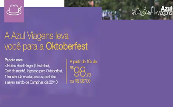 Azul Viagens leva você para a Oktoberfest 2015 #oktoberfest #azulviagens #viagem #outubro