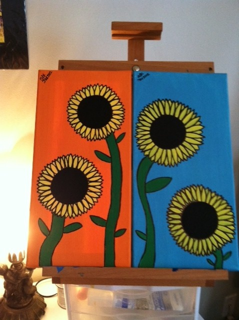 My SunFlower paintings :): Painting Inspiration, Sunflower Paintings, Sunflowers Painting