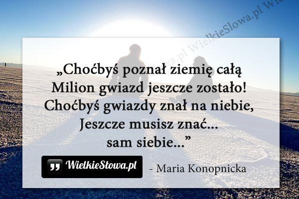 Choćbyś poznał ziemię całą... #Konopnicka-Maria,  #Poszukiwanie…
