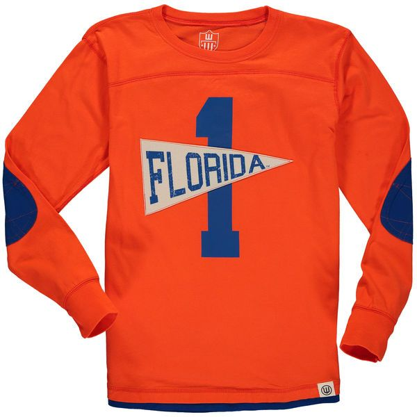 Florida Gators Wes & Willy Youth Pennant Jersey Long Sleeve T-Shirt - Orange - $34.99