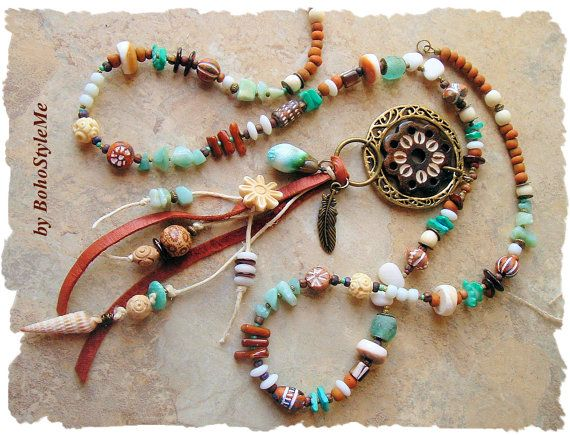 Rustic+Earthy+Tribal+Necklace+Ancient+Water+Dance+by+BohoStyleMe