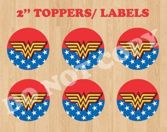 Printable 2 Batman Cupcake Toppers/ by CreativePartyStudio on Etsy