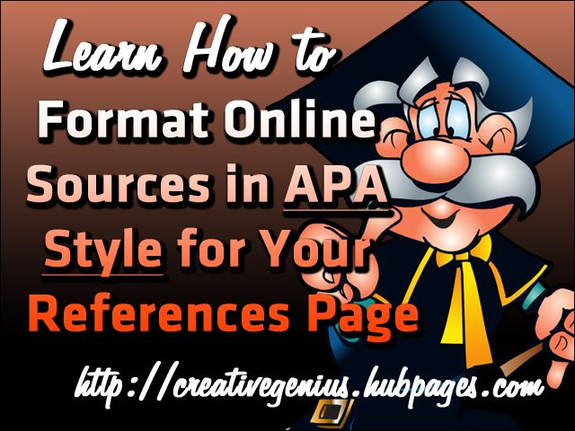 Learn how to format online sources in APA style for your References page.