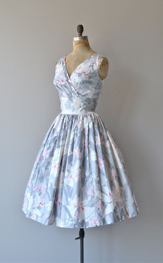 Parc de Bercy dress vintage 1950s cotton dress by DearGolden