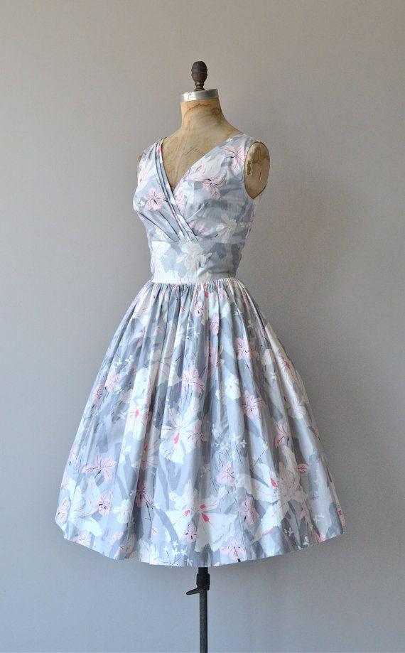 Parc de Bercy dress vintage 1950s cotton dress by DearGolden