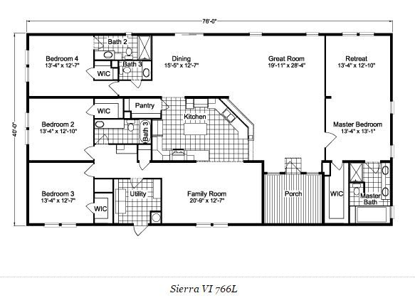 Best 25 modular floor plans ideas on pinterest simple Double wide floor plans with basement