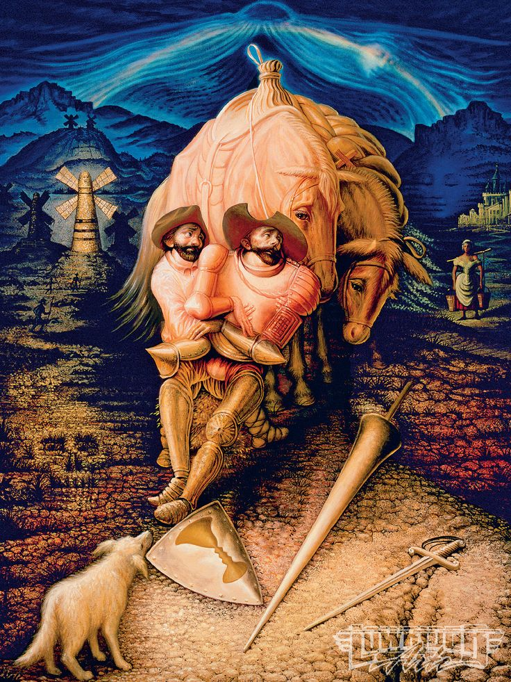 Otra ilusión óptica de nuestro ingenioso caballero Don Quijote y Sancho Panza. La Gestalt
