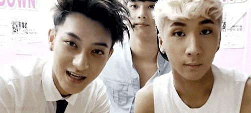 Tao on left, N in middle, Ravi on right. N looks like he's bored