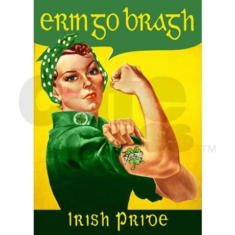 Erin Go Bragh | erin_go_bragh_rosie_rectangle_magnet.jpg?height=460&width=460 ...