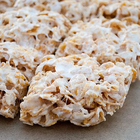 Make rice krispie treats with ANY cereal. Omg Fruity Pebble treats would be so great.