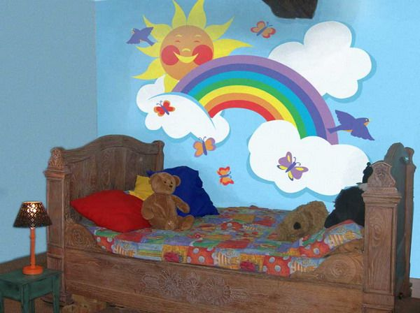17 best images about rainbow stuff on pinterest for Rainbow kids room