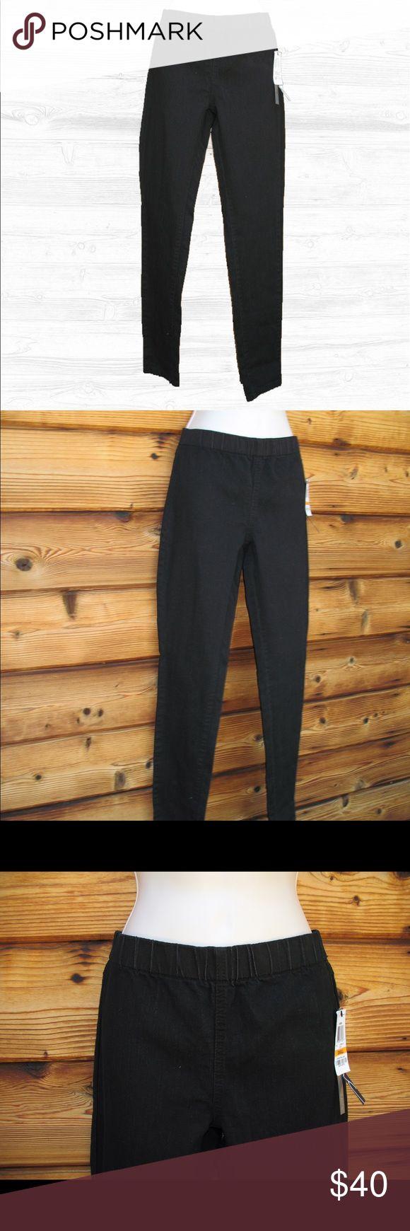 "🆕 International Concepts INC Denim Jeggings Pant International Concepts Elastic Waist Skinny Regular Fit Jeggings Pants, Size Small, Black, New with Tags Details: INC Size: Small Color: Black Elastic Waist No pockets 81% Cotton/18% Polyester/1% Spandex  Measurements: Waist: 28-34"" Elastic Hips: 36"" Inseam: 31"" Front Rise: 8.5"" INC International Concepts Pants Leggings"