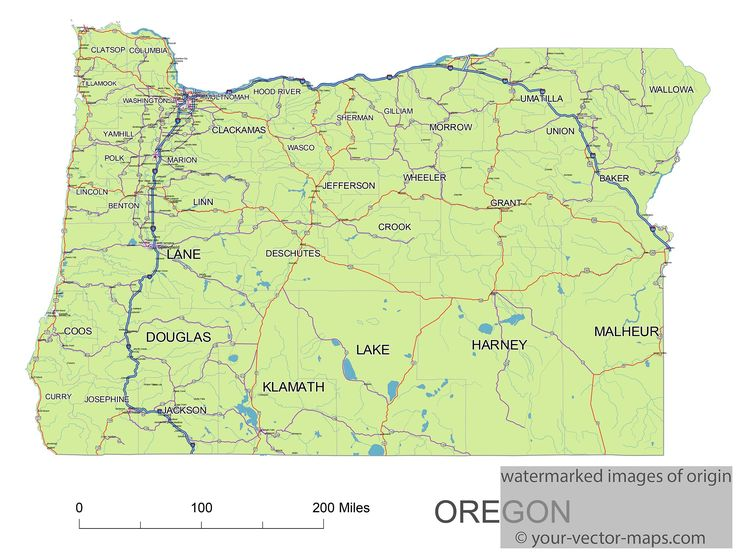 Best US State Maps Images On Pinterest Michigan Maine And - Oregon state map with cities