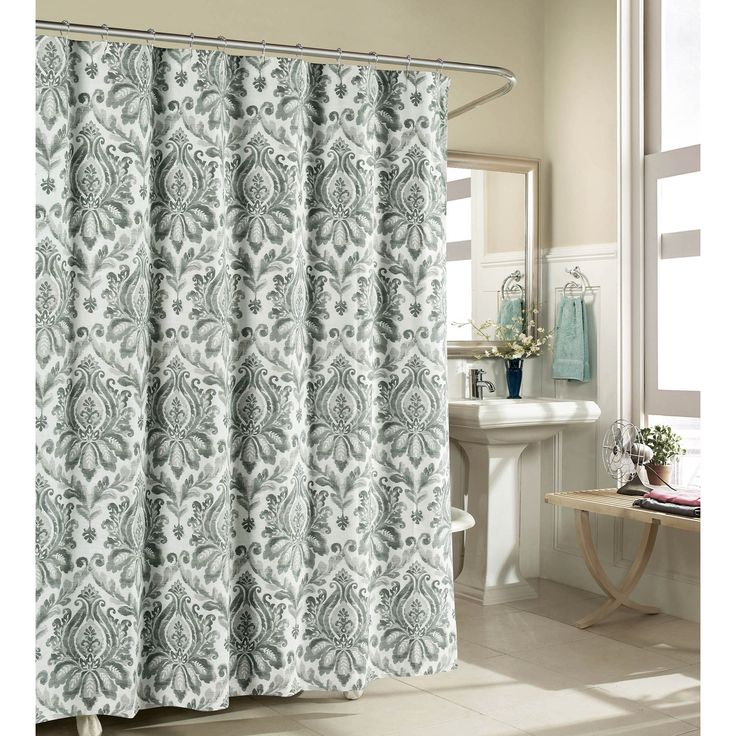 Creative Home Ideas Biltmore 100% Luxury Fabric Shower Curtain