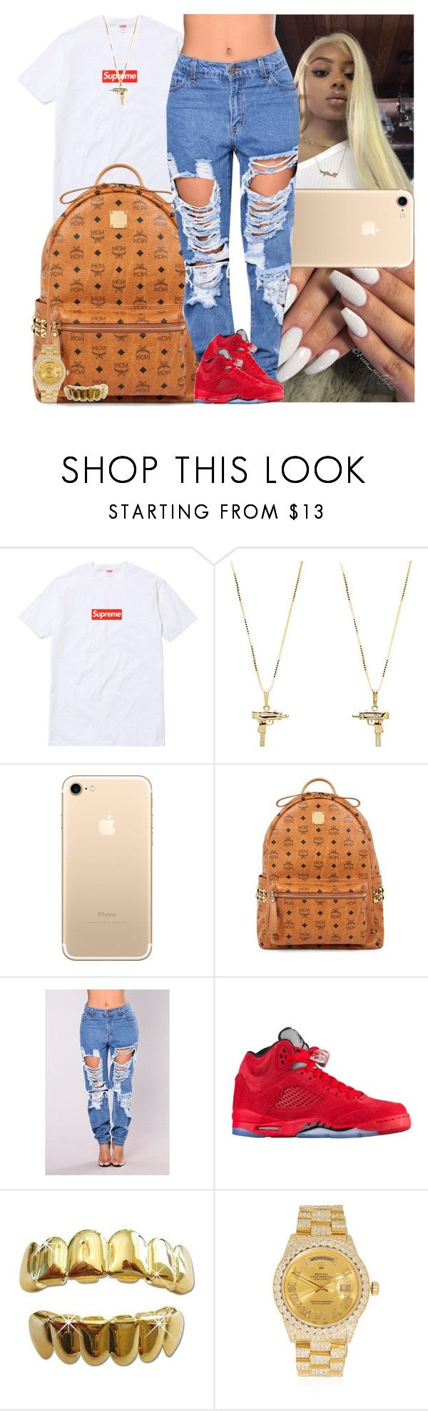 """""""Untitled #1277"""" by msixo ❤ liked on Polyvore featuring UZI, MCM and Rolex"""