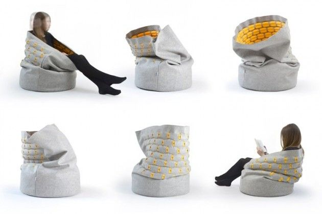 Prague-based Kumeko have created Snug, a cozy shell that surrounds the person within.via Robyn Ayers