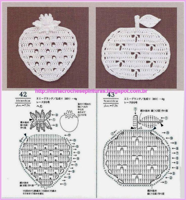 MIRIA CROCHÊS E PINTURAS: APLIQUES DE CROCHÊ  christmas ornament