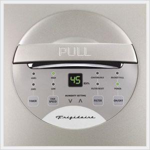 frigidaire dehumidifier control panel