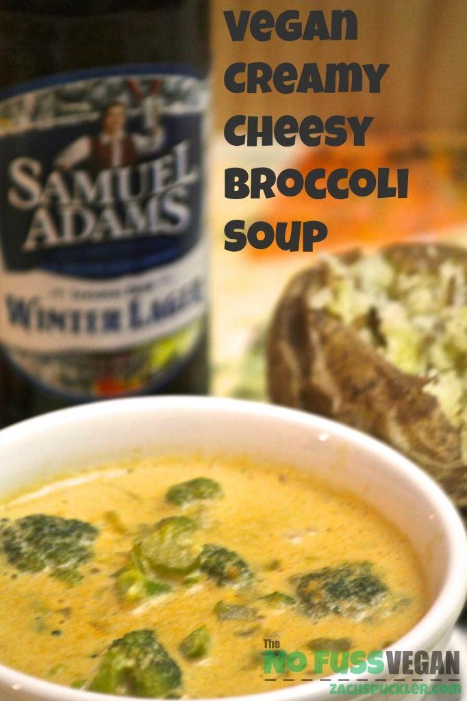 Vegan Creamy Cheesy Broccoli Soup