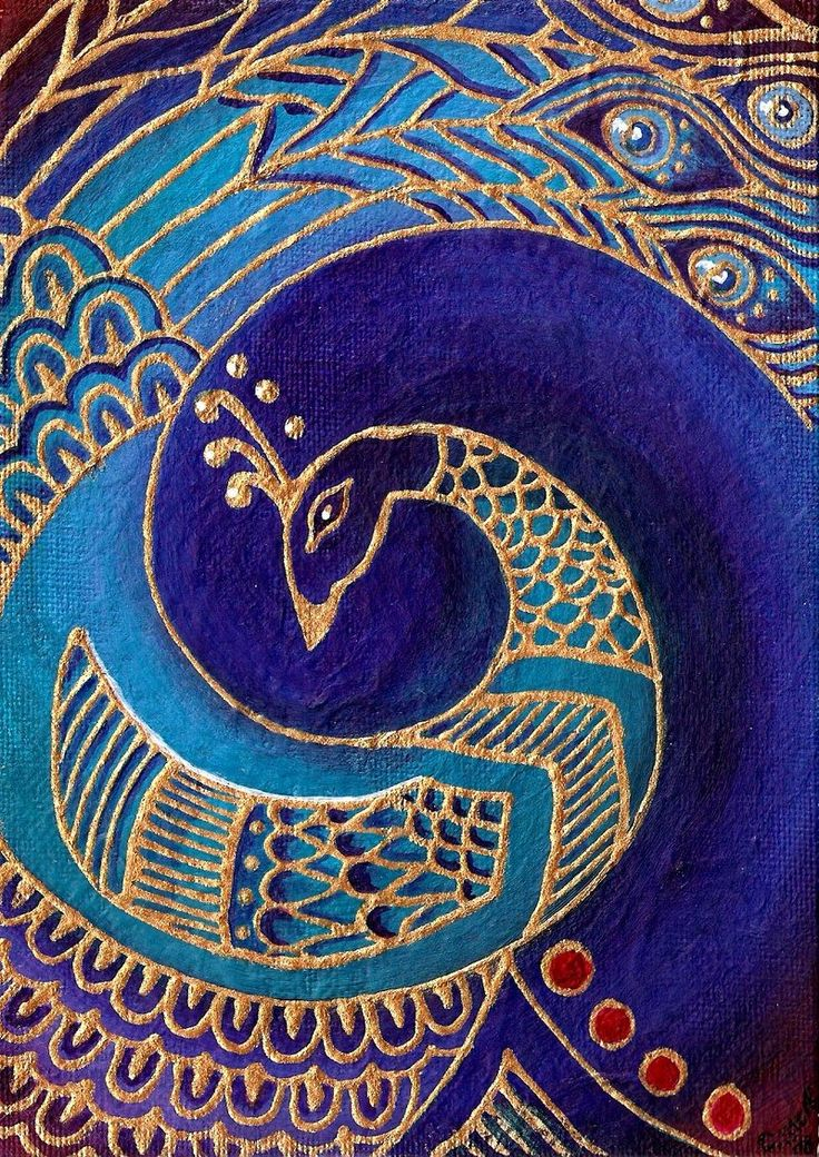 Blue Peacock painting by ~Cha0sCat http://cha0scat.deviantart.com/art/Blue-Peacock-painting-104280450?q==