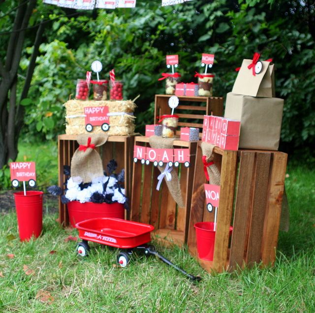 32 Best Red Wagon Birthday Images On Pinterest Party