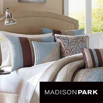 madison park salem blue 6piece duvet cover set