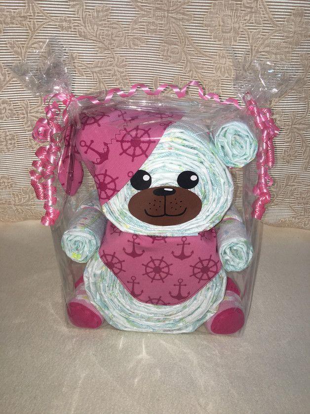 Dieses besondere _Windelbär_ ist als Geschenk für die Geburt, für das wundervolle   – Baby Shower