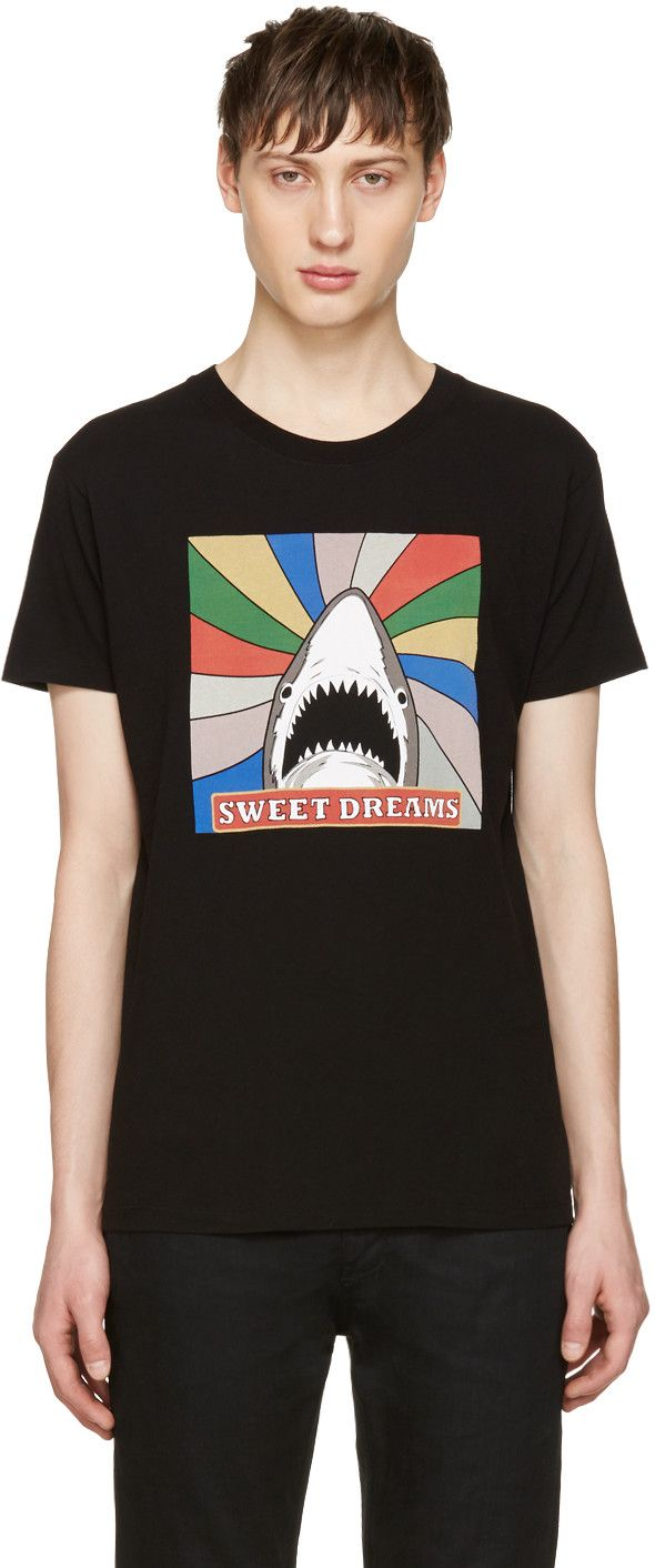 Saint Laurent - Black Sweet Dreams Shark T-Shirt