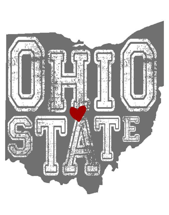 Ohio State; Buckeye print; Digital file; Ohio State sign