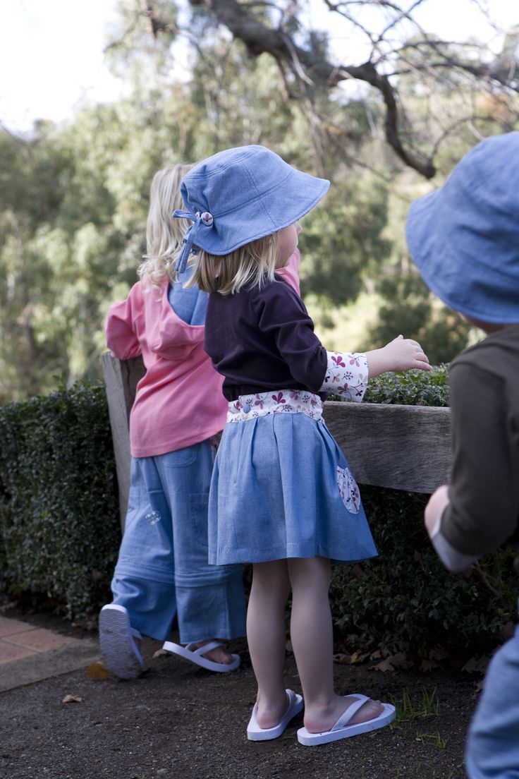Our Shady Days Hats, Cuff topss, Skirt and Pocket Pants, all UPF rated, with sun protective higher collars and longer sleeves. All 100% Australian made.