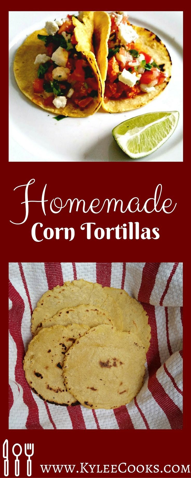 Kylee Cook: Homemade Corn Tortillas  An easy way to add more homemade deliciousness to taco night with your very own, hot-off-the-pan corn tortillas!  #breadbakers