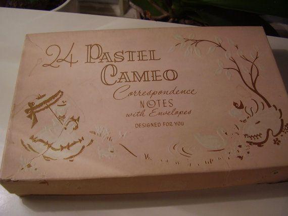 Vintage 1940's 50's Pastel Cameo Correspondence by TheLastPixie