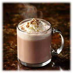 Warme chocolademelk met slagroom....