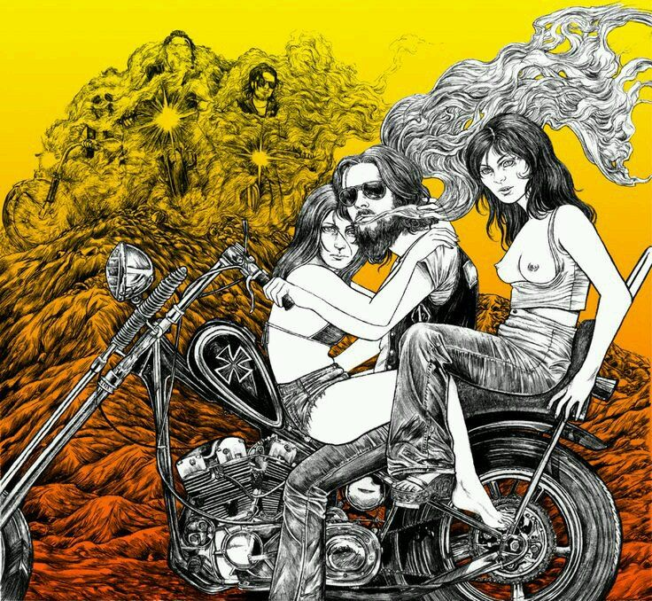 Old School Motorcycles >> Pin by 53DILLIGAF on Biker Art. | Pinterest