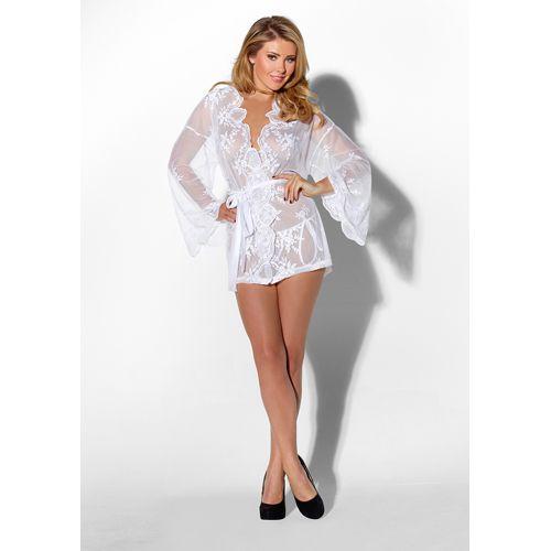 Witte kanten kimono. Pure verleiding. #lingerie #lingeriebestellen #kimono #style #fashion #sexy #ladylike