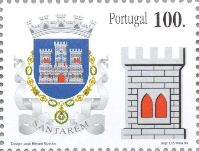 Sello: Santarem (Portugal) (District Coat of Arms) Mi:PT 2286,Yt:PT 2251,Afi:PT 2520