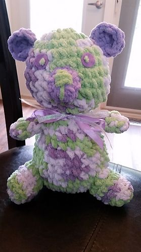 """""""like"""" me at """"Tangled by Erin"""" on facebook, cute, cuddly and soft crochet bear…"""