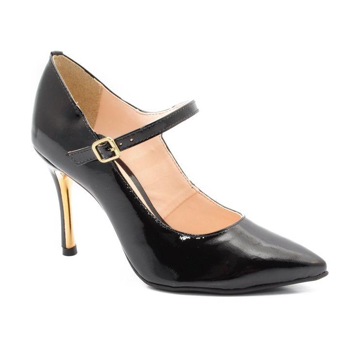 Super čierna, koža (lak), Montonelli Dámske topánky,