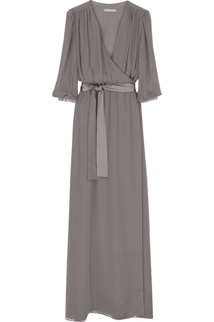 Alice + Olivia Wrap maxi dress - 0% Off Now at THE OUTNET