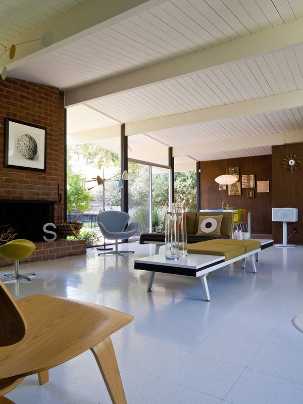 170 best eichler homes images on pinterest modern for Eichler flooring