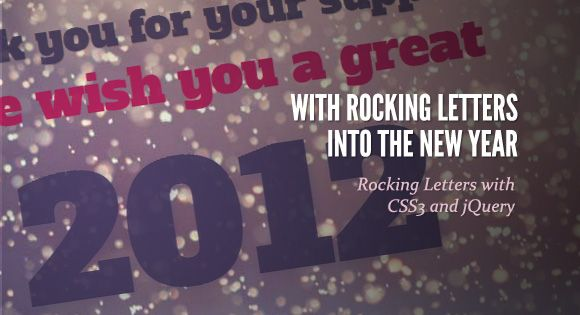 Rocking Letters. http://tympanus.net/Development/RockingLetters/