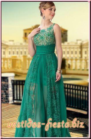 vestidos-de-gala-largos-verdes-encaje-pedreria-elegantes-juveniles-graduacion-prom-15-años