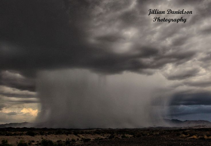 Monsoon Rain shaft in the Lake Havasu Arizona desert. 8/12/14. photo Jillian Danielson